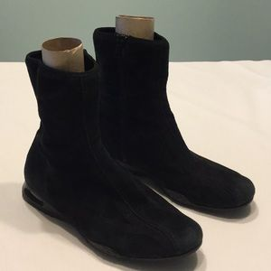 Cole Haan Nike Air Athletic Boots Side Zipper